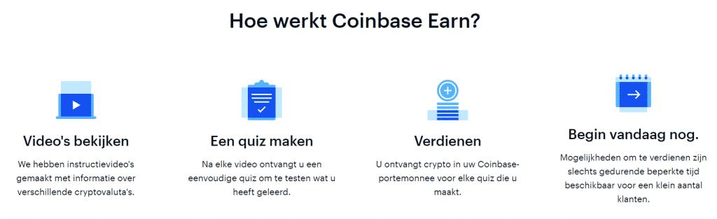 Hoe werkt Coinbase earn