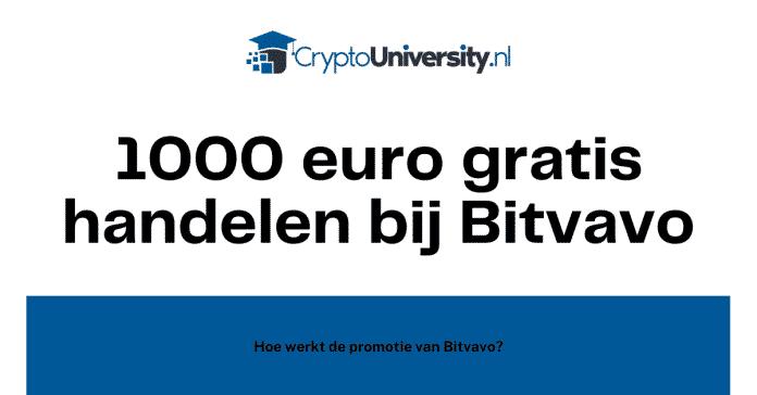 Hoe werkt de Bitvavo 1000 euro gratis promotie?
